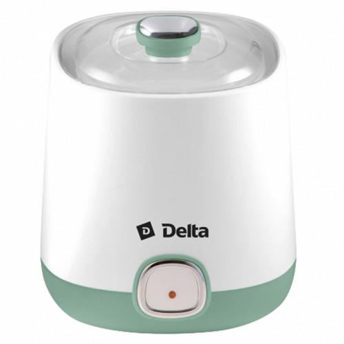 Йогуртница электрическая DELTA DL-8400 белая с серо-зеленым