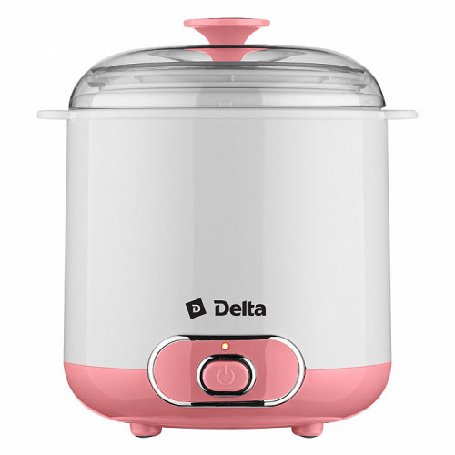 Йогуртница электрическая DELTA DL-8401 белая с розовым