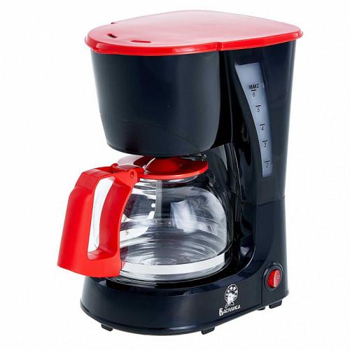 Кофеварка ВАСИЛИСА КВ1-600 черная с красным