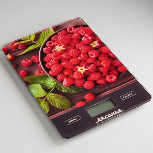 Весы кухонные Аксинья КС-6502 (Сочная малина)