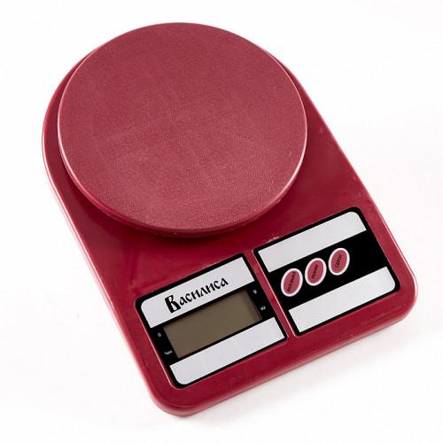 Весы кухонные Василиса ВА-012 (бордовый)