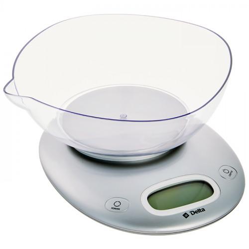 Весы настольные с чашей DELTA KCE-34 серебро